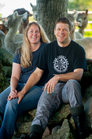 Jennifer and Ian Lutz, owners of Cas-Cad-Nac Farm